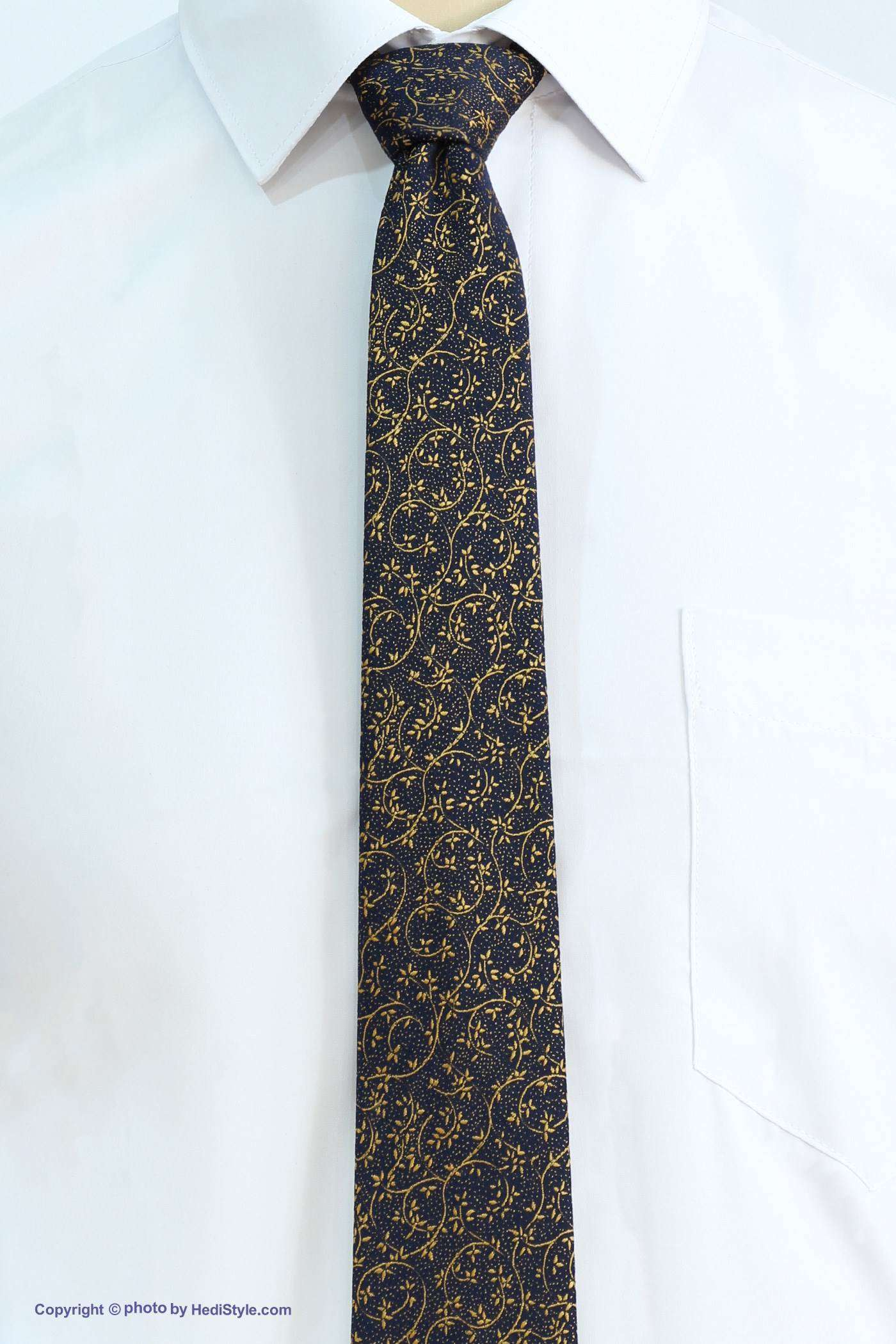 Tie and skin set of golden black flower design