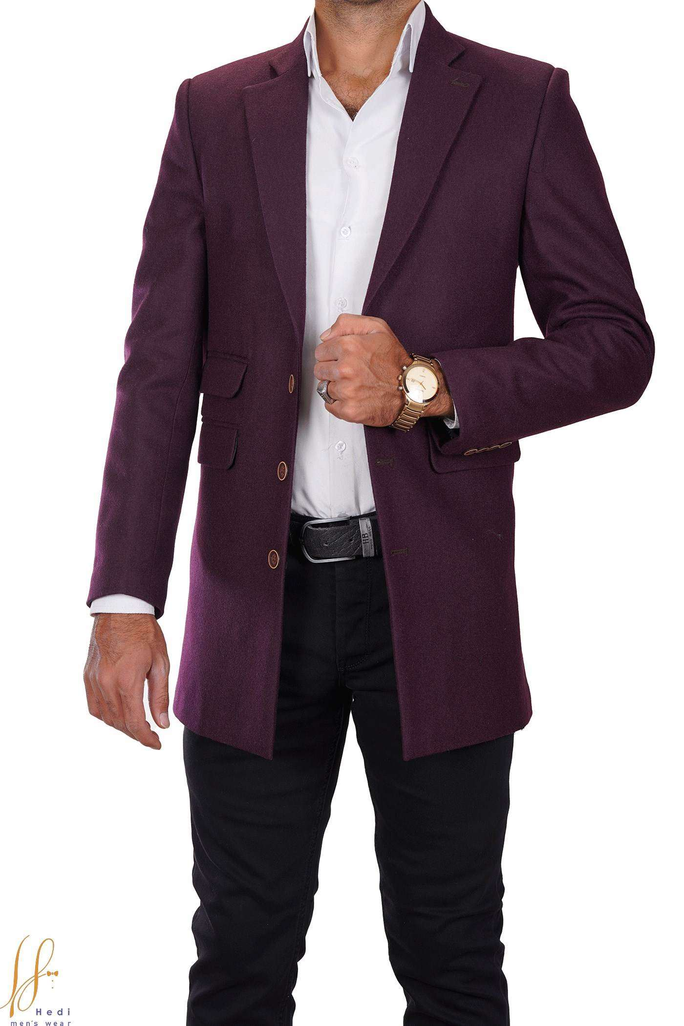 Men's cashmere half coat